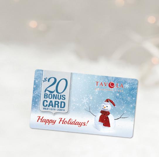 Holiday Bonus Card Sale