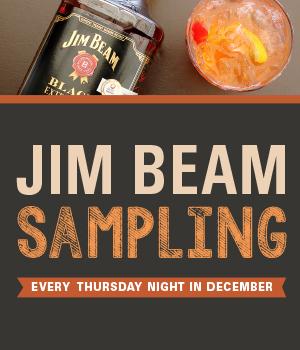 Jim Beam Samplings (Thursdays in December)