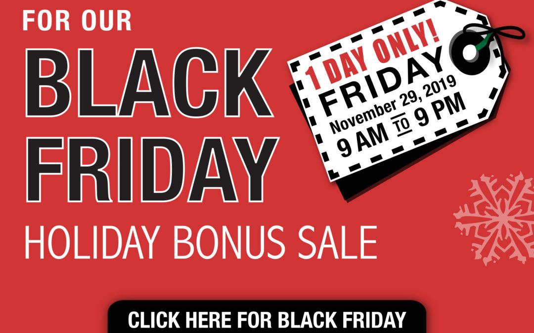 Black Friday Bonus Card Sale